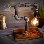 """The """"Thinker""""- Lamp Vintage Modern Home/Office Light Edison/Unique table lamp/Industrial lighting/Steampunk/gift/pipe lamp/desk accessories"""