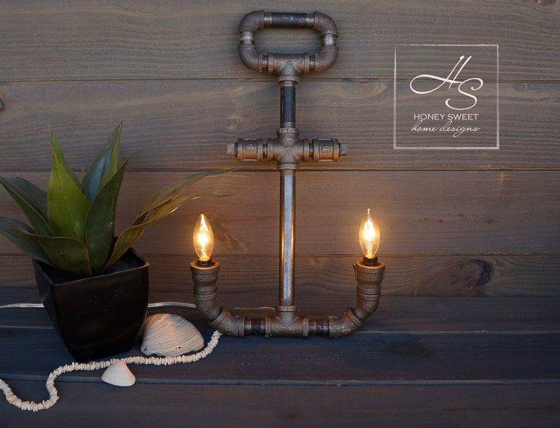 The Admiral  Edison Industrial Pipe Lamp Vintage Modern Home image 0