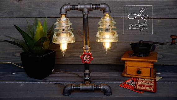Le « pompier lampe industrielle tuyau edison vintage maison