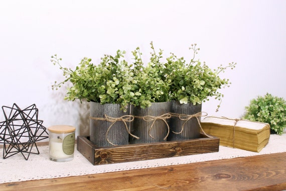 Rustic Table Centerpiece Farmhouse Table Centerpiece Dining Etsy
