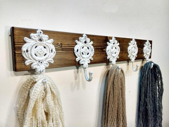 Wall hook rack Board with hooks Coat hook board Hook Rack | Etsy
