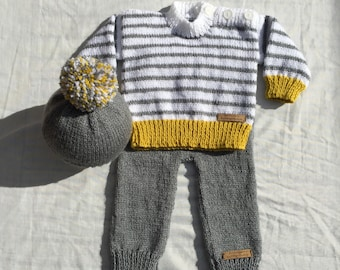 100e21a2d Baby Girl wool CardiganJacket Chunky christmas gift Hand Knitted
