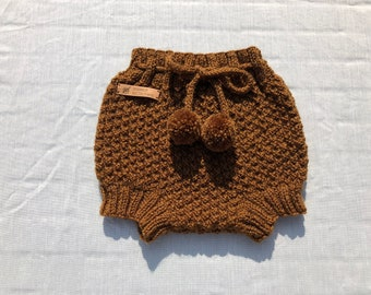 Colour options Hand knitted Baby unisex Drawers Diaper soaker Bloomers Baby Shower Pants Buttoned Nappy Cover summmer Beach