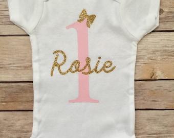 0bd693ba8 First Birthday Personalized Onesie®, 1st Birthday Onesie®, Personalized  Birthday Onesie®, Custom Birthday Onesie®, Girl 1st Birthday