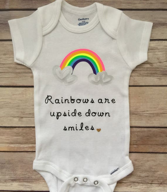 80f98ded9fab Rainbow Hearts Baby Girl Onesie® Baby Girl Outfit Newborn