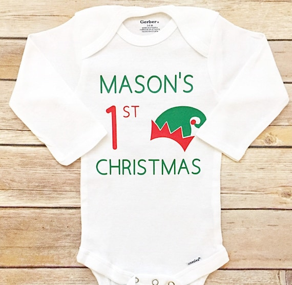 580cf5d0f1e8 My First Christmas Outfit Custom Christmas Outfit Baby's | Etsy