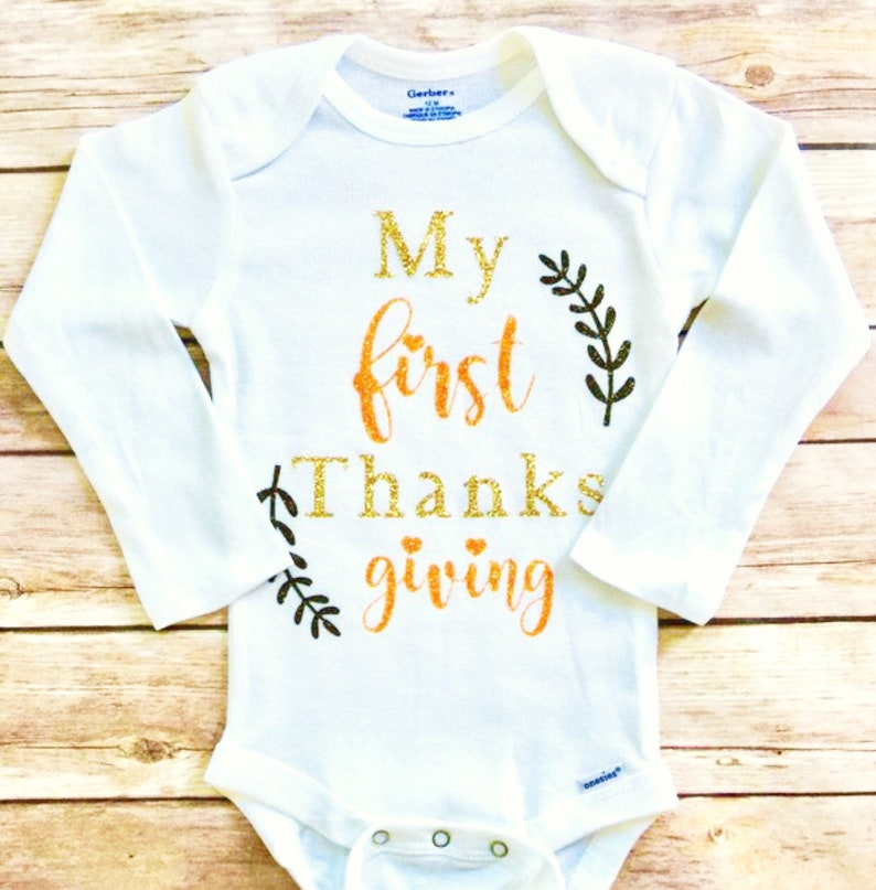 69d643ae0828b My First Thanksgiving Outfit 1st Thanksgiving Thanksgiving | Etsy