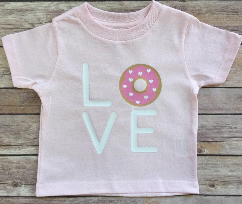 4c5a80b2c Love Donuts Tee Love Donuts Donuts T-Shirt Donut Top Girls