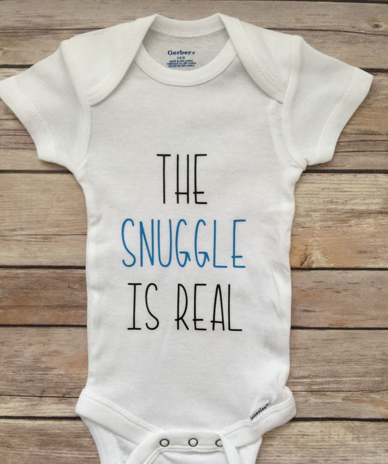35e058b4d The Snuggle is Real Outfit® Funny Onesie® Newborn Outfit® | Etsy