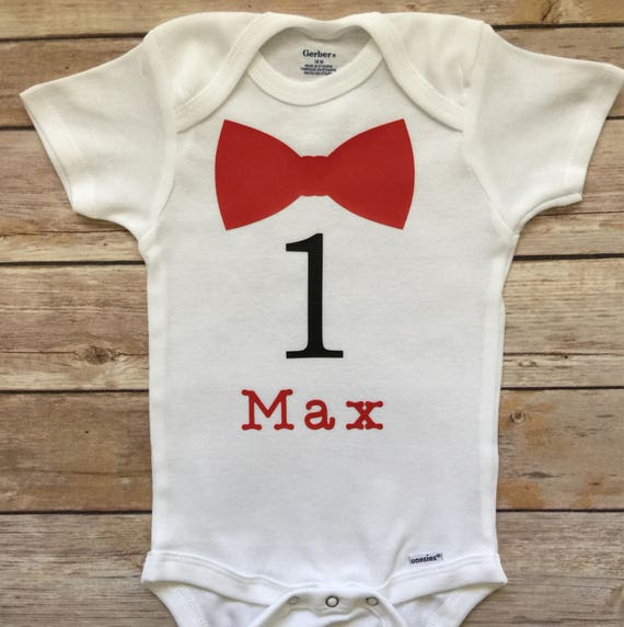 First Birthday Boys Onesie 1st Shirt Personalized