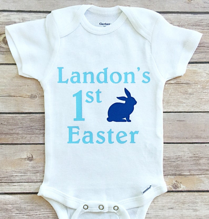 317cbaf67d18 Boy My 1st Easter Outfit My First Easter Boy Easter Onesie