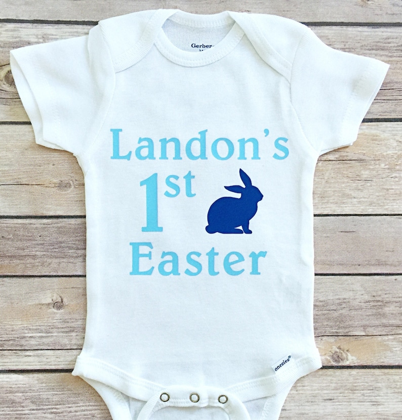 662ca007e Boy My 1st Easter Outfit My First Easter Boy Easter Onesie | Etsy