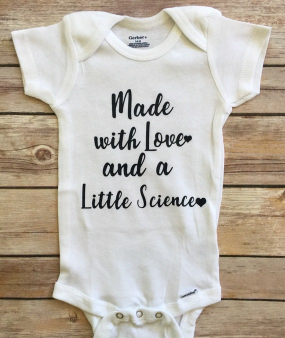 a6dc85eb6 Made with Love and Science Onesie IVF Onesie IVF Baby | Etsy