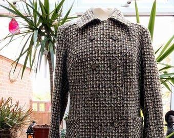 1960's Houndstooth Tweed Coat