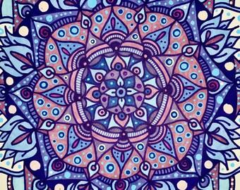 Freehand Mandala art, hand drawn mandala, freehand mandala, custom art, unique mandala, one of a kind handmade