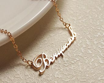 Custom Name Necklace / Name Jewelry / Children Names Necklace / Personalized Name Necklace / Bridesmaid gift