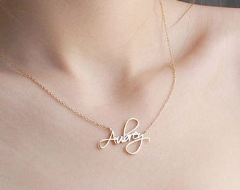 Custom Name Jewelry Personalized Name Necklace Dainty Name Necklace Bridesmaids Jewelry Wedding Jewelry Baby Names Mom Gift
