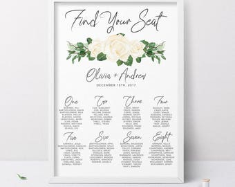 seating chart wedding reception