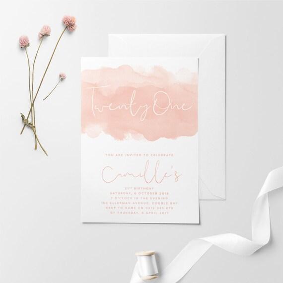 Printable Birthday Invitation Custom