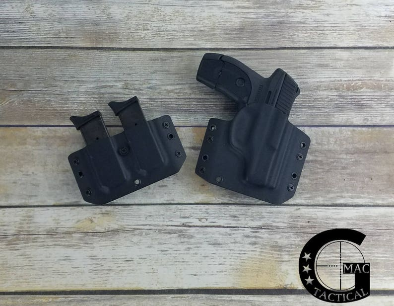 Ruger EC9s LC9s LC9 Kydex Holster and Double Magaazine Pouch Outside  Waistband