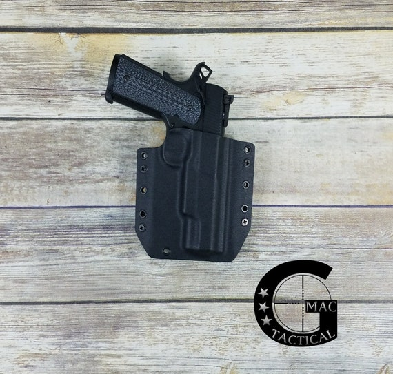 Springfield Armory 1911 TRP Operator 45 cal Kydex Holster Outside Waistband  Black