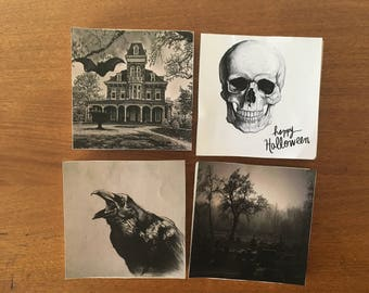 SALE*Crows Skulls and Graves Coaster Set- stone coasters