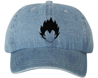 31a6980de4ed3 ... get vegeta blue denim unstructured dad hat black vinyl design a1dd5  5fac1 usa fashion brand snapbacks versace fitted hat in ...