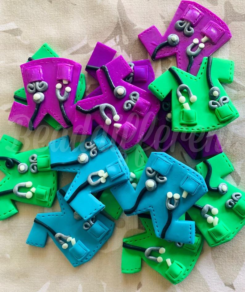 Polymer Clay Ornaments - Scrubs