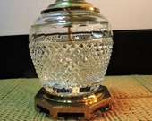 Gorgeous Vintage Lenox Providence Clear Cut Crystal Table Lamp With Solid Brass Base Signed