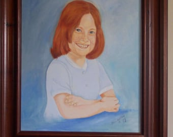 Little Girl in Oils (Commissioned Portrait) SOLD