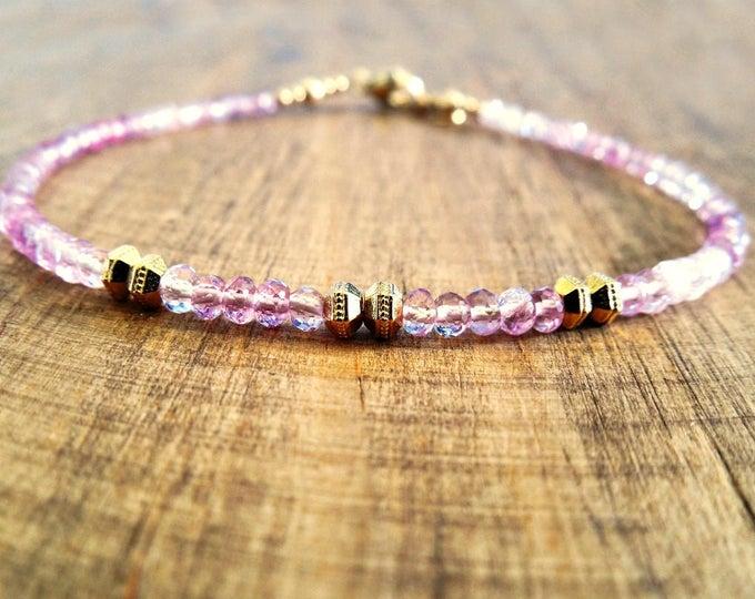 Calming Gemstone Bracelet - Pink Spinel