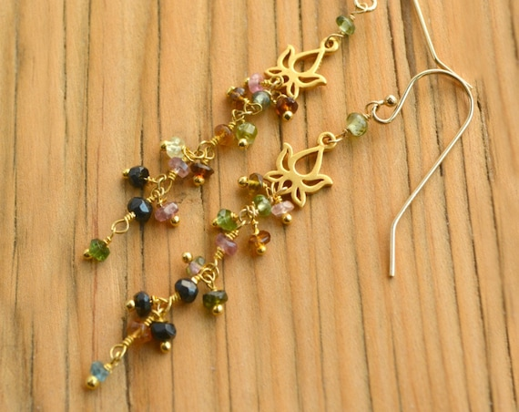 Tourmaline Dangle Earrings