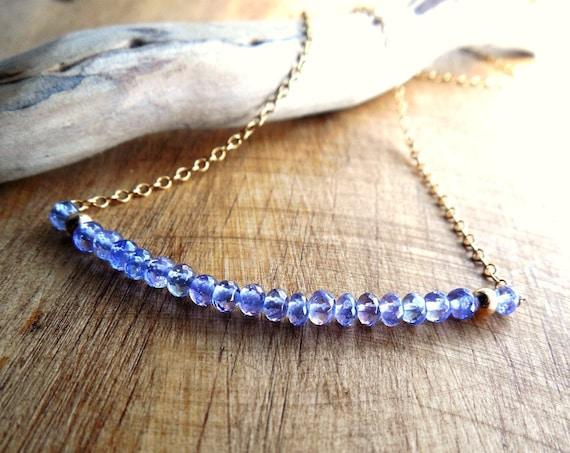 December Birthstone Necklace - Tanzanite