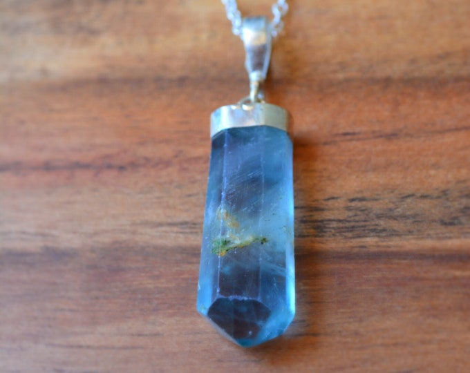 Raw Fluorite Necklace