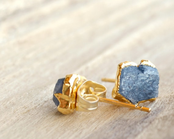 Man's Sapphire Earrings