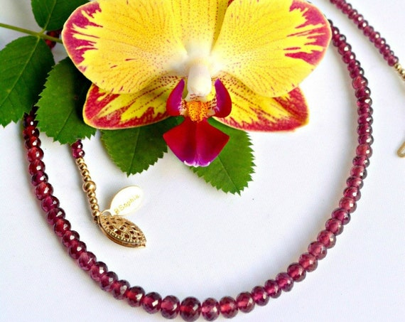 Bridal Necklace ~ Garnets