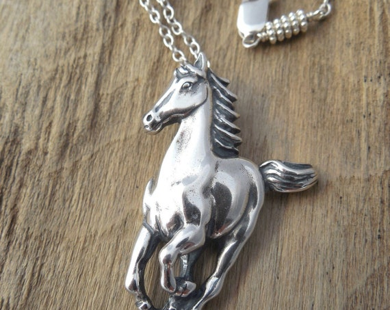 Personalized Horse Pendant ~ Sterling Silver