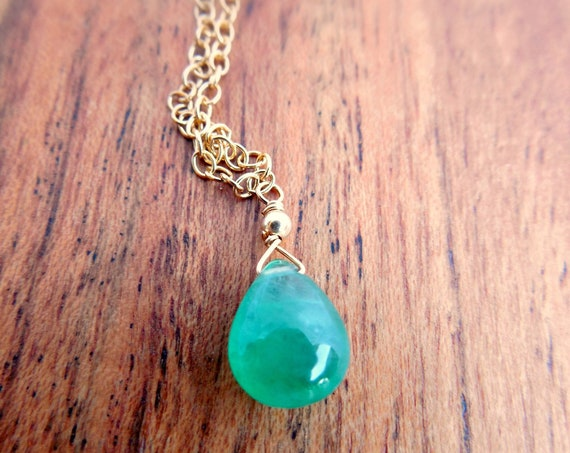 May Birthstone - Emerald Necklace