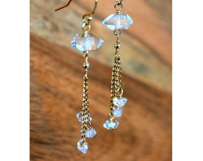 Herkimer Diamond Dangle Earrings