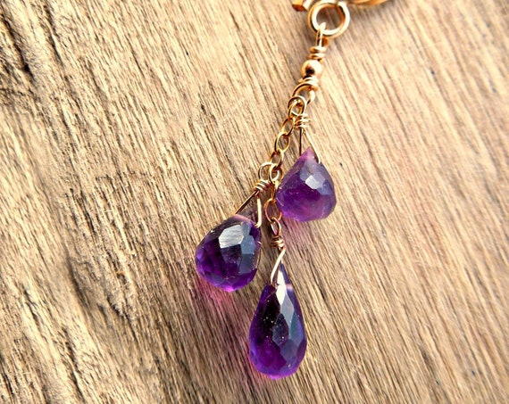 Amethyst Necklace ~ 6th Anniversary