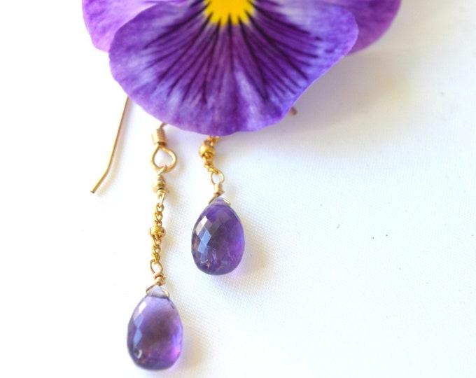 Amethyst Earrings ~ February Birthstone