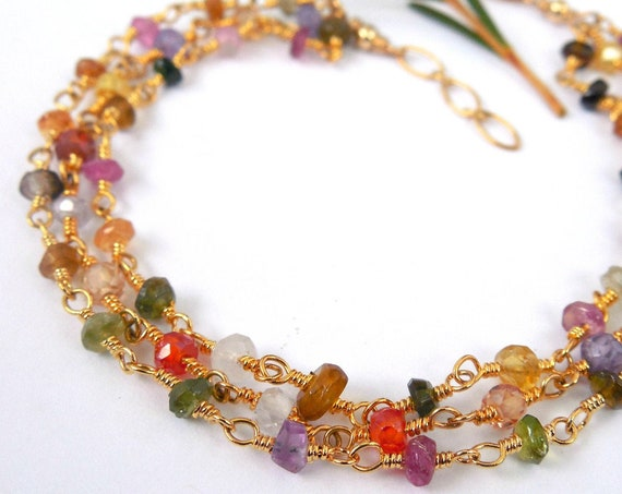Multi Tourmaline Strand Bracelet