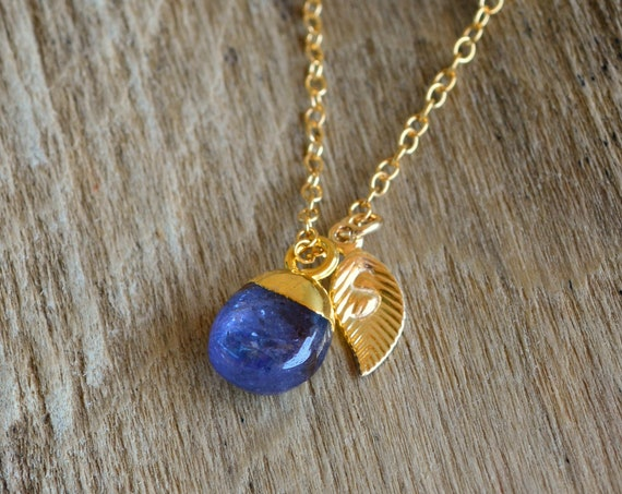 September Birthstone ~ Dainty Blue Sapphire Necklace