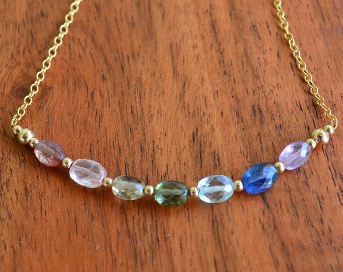 Sapphire Necklace ~ Chakra Jewelry