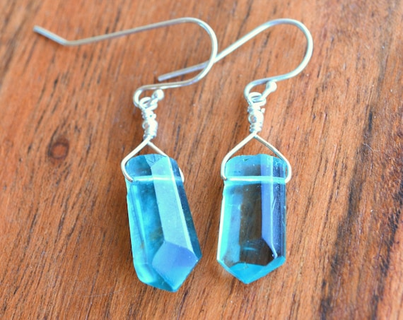 Fluorite Crystal Earrings