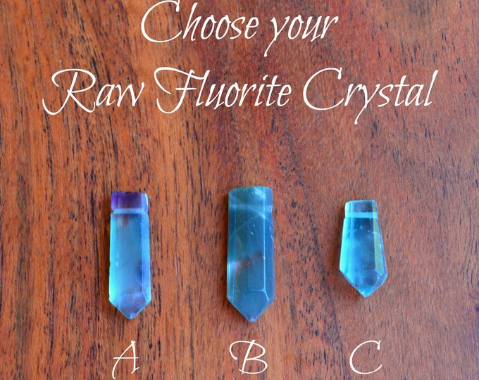 Raw Fluorite Pendant