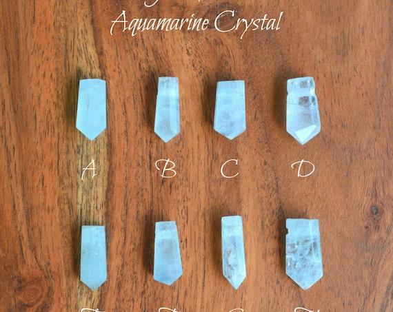 Raw Aquamarine Crystal Bridal Necklace