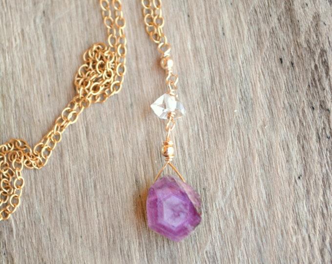 Raw Birthstone Necklace