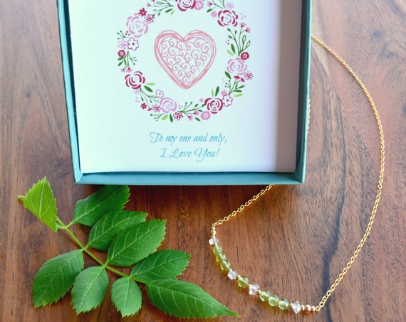 16th Anniversary Gift ~ Peridot Necklace