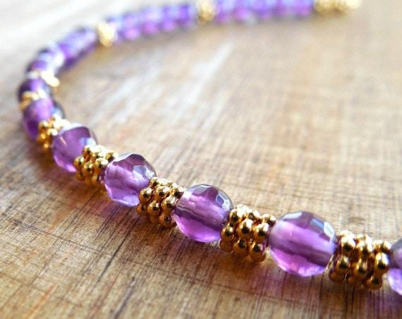 February Birthstone ~ Amethyst Bracelet